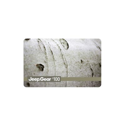 $100 Jeep® Gear Gift Card