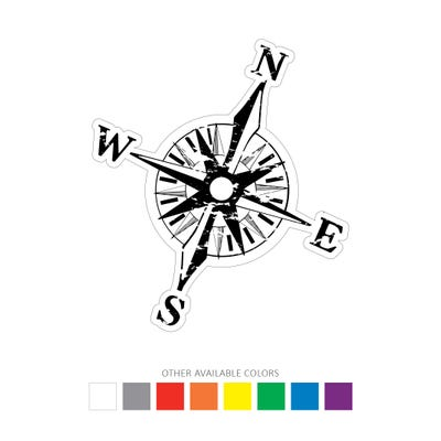 Distressed Compass Graphic