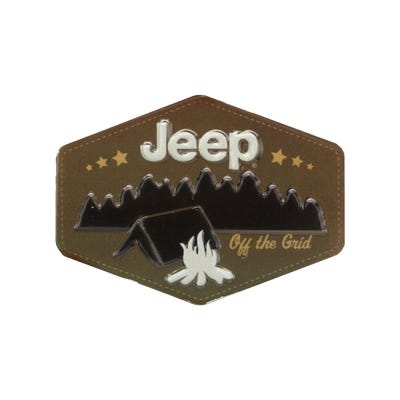 Camping Embossed Tin Magnet