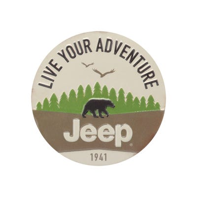 Live Your Adventure Embossed Tin Magnet