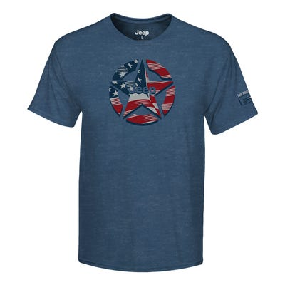 Star Men's 80th Anniversary Flag T-shirt