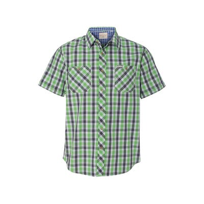 Men's Vintage Plaid Short Sleeve Shirt