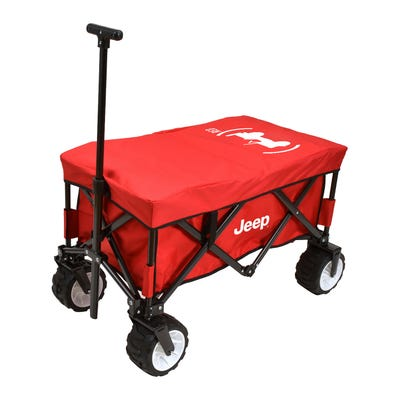 (PRODUCT)RED Folding Beach Wagon Cooler