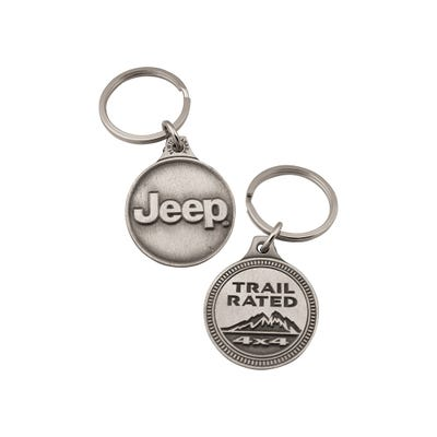 Trail Rated Badge Key Chain
