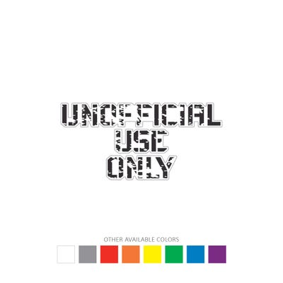 Unoffical Use Only Graphic