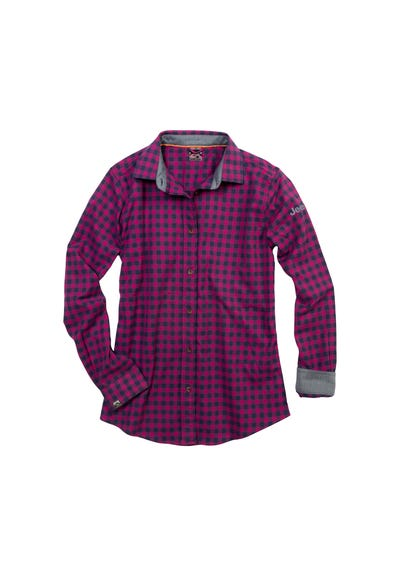 Women's Stretch Woven Flannel Shirt